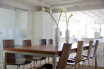 Interiors of a modern dining room