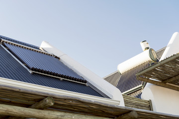 Solar panel on the roof of a house