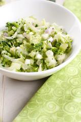 Healthy broccoli and cucumber salad