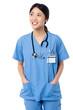Female doctor in uniform looking away