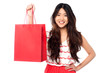 Chinese girl with shopping bag