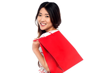 Shopaholic attractive asian girl