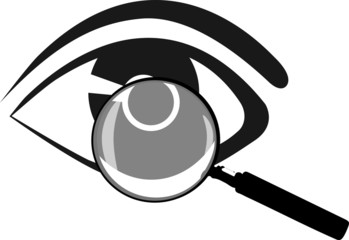 Lupe Auge vergrössert Vector