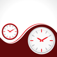 clock with redbackground