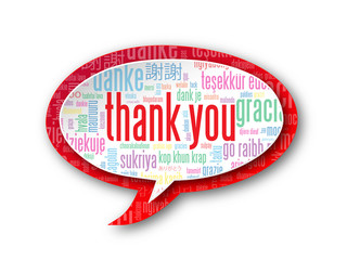 """THANK YOU"" Tag Cloud (thanks gratitude appreciation greetings)"