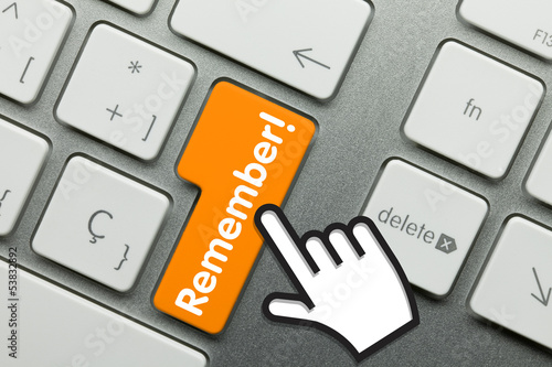 Remember! keyboard key finger
