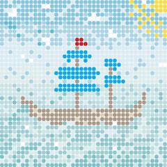 mosaik ship vector