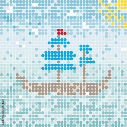 mosaik ship vector