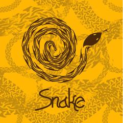Illustration of brown snake