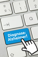Diagnose: Alzheimer! keyboard key finger