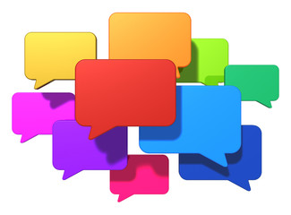 Social networking and internet messaging concept