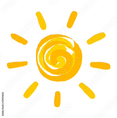 Sun painted illustration