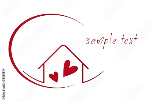 Home , love, architecture , icon, business logo design
