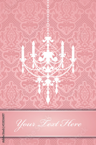 Vector lace background with chandelier