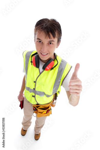 Apprentice builder thumbs up