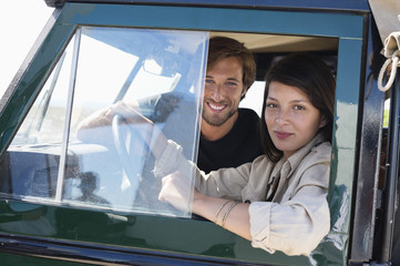 Couple in a SUV