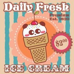 ICE CREAM - PANDA