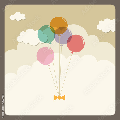 balloons flying in the sky