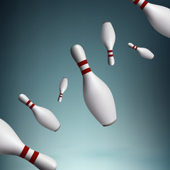Vector bowling pins