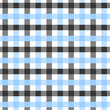 Blue, White and Black Plaid Fabric Background