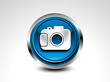 abstract blue glossy camera button