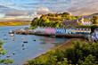 Leinwanddruck Bild - view on Portree, Isle of Skye, Scotland
