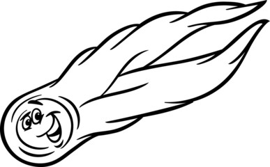 cartoon comet coloring page