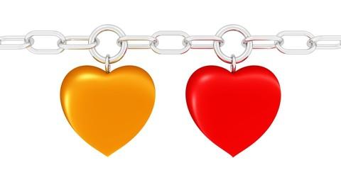 zwei starke Herzen - fest verbunden