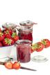 Erdbeeren und selbstgemachte Marmelade