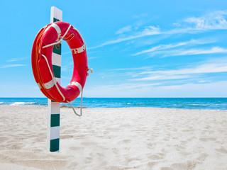 Salvagente sulla spiaggia
