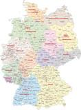 Fototapety Deutschland, Wahlkreise Bundestagswahl 2013