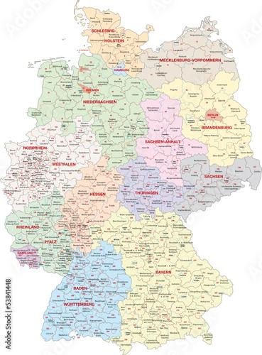 Deutschland, Wahlkreise Bundestagswahl 2013