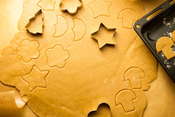 Closeup of gingerbread cookies for Christmas