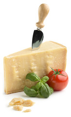 parmesan cheese with basil and tomato
