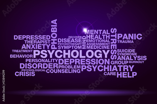 psychology word cloud