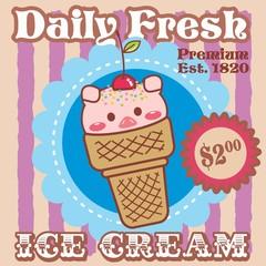 ice cream - pig
