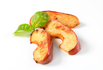 Pan fried apple slices