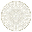 Ornamental round lace pattern like mandala_1