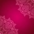 Постер, плакат: Vinous background with lace ornament