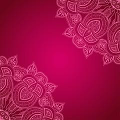 Vinous background with lace ornament