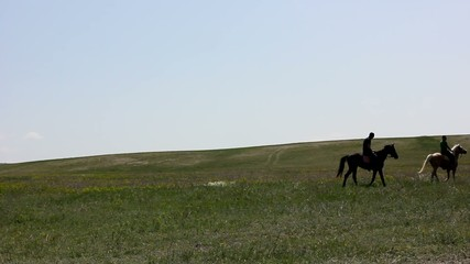 Horseman rides on horseback