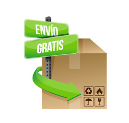 free shipping in spanish concept sign