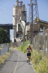 Runner on  Portland's New Springwater Corridor