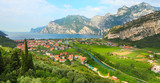 Northern part of the Lake Garda (Lago di Garda) Italy.