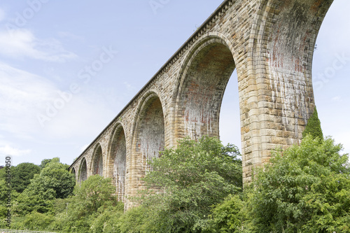 View of Cefn viaduct in North Wales UK