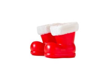 Weihnachtsmannstiefel, freigestellt