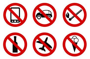 forbidden stop sign icon