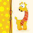 giraffe with scarf