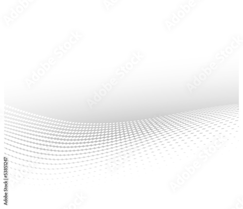 wavy dots abstract white background