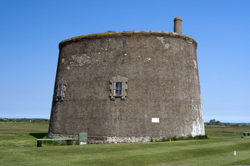 Martello Tower at Felixstowe, Suffolk, England